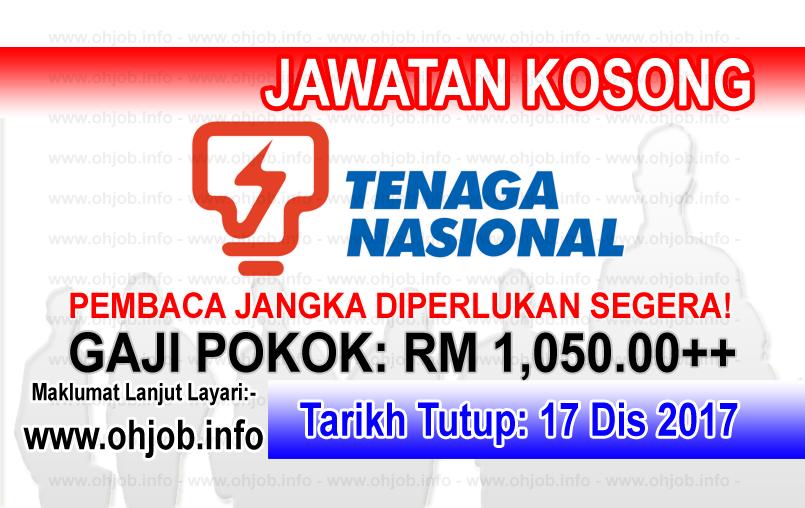 Jawatan Kerja Kosong TNB - Tenaga Nasional Berhad logo www.ohjob.info disember 2017