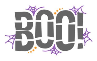Silhouette Design Store - Boo! gratis design