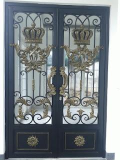Pintu, Besi, Tempa, Klasik, Rumah, Mewah