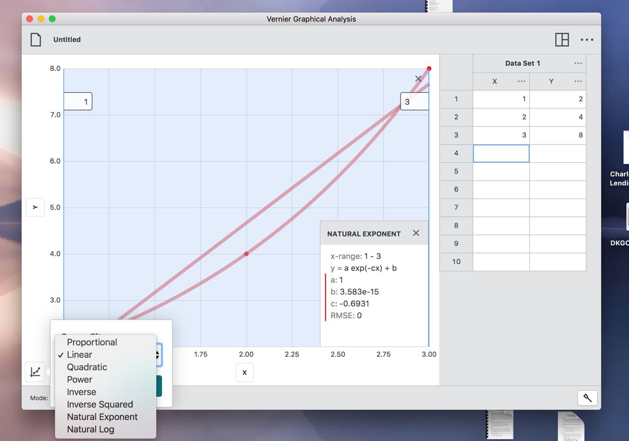 Graphical Analysis Software for Vernier Sensors