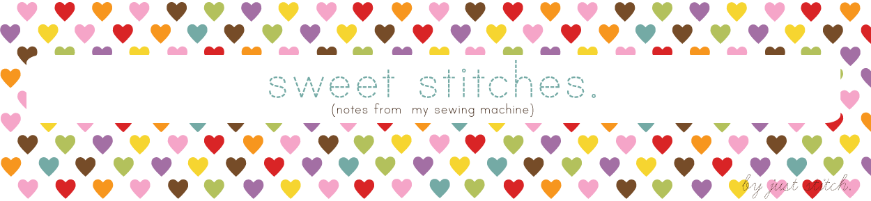 sweet stitches. (notes from my sewing machine)