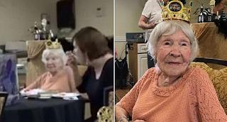 Γιαγιά 105 ετών λέει πως το μυστικό της μακροζωίας της είναι τα τσιγάρα τα ποτά και τα ξενύχτια