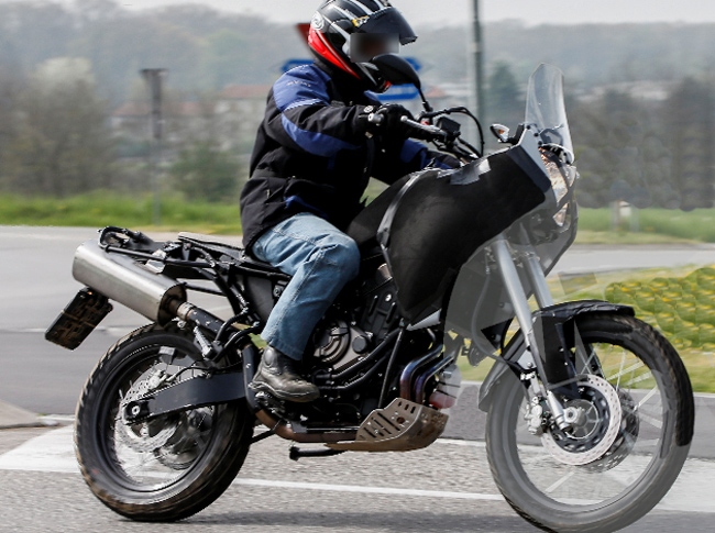 New yamaha mt 07 t n r spied real riders for Yamaha adventure bike 2018