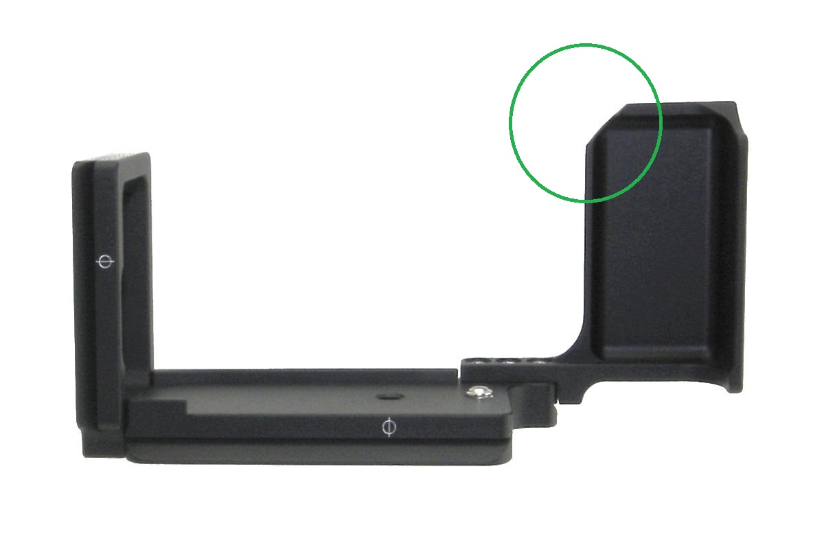 Sunwayfoto PFL-XE1 L bracket R2 back view