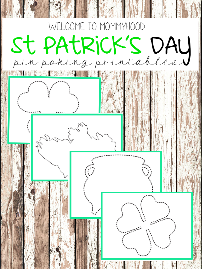 Montessori inspired activities: St Patrick's Day pin punching printables by Welcome to Mommyhood #montessoriactivities #montessori #preschoolactivities #preschool #Stpatricksday