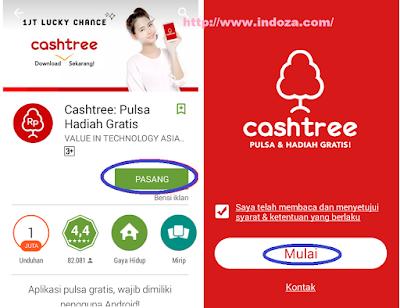 cara mendapatkan pulsa gratis Cashtree