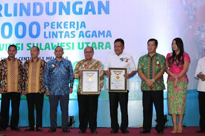 Gubernur Olly Kembali Raih Rekor MURI