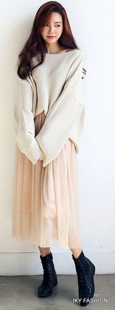 model Sweater dan Dress Panjang cewek kekinian ala korea