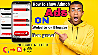 How To Show Admob Ads On Website or Blogger / Free HTML script