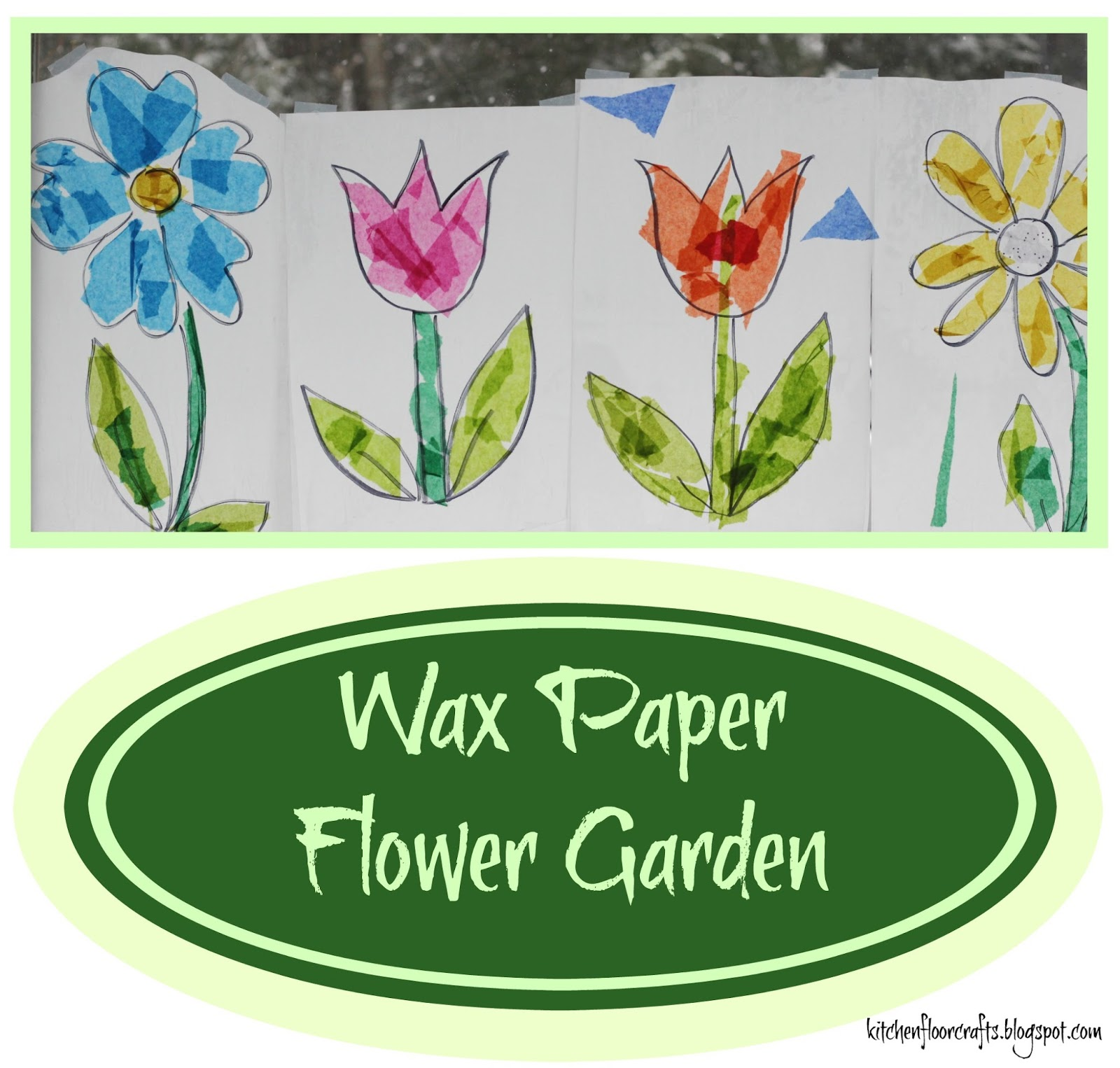 Kitchen Floor Crafts Wax Paper Flower Garden