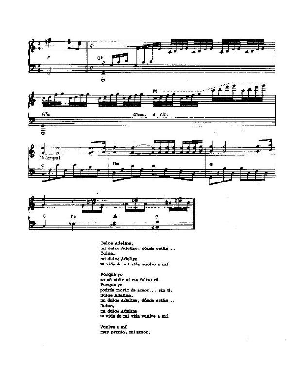 Balada Para Adelina Partitura Piano Pdf