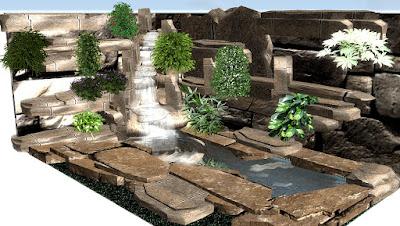Kolam koi, kolam minimalis,Tukang taman Surabaya, desain taman Surabaya,waterwall, waterfall, Ampyangan, Carport, dekorasi tebing,  jasa taman, taman kering, taman minimalis, Ornamen, Pahatan
