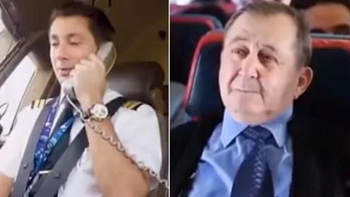 Piloto de avião faz homenagem para seu professor
