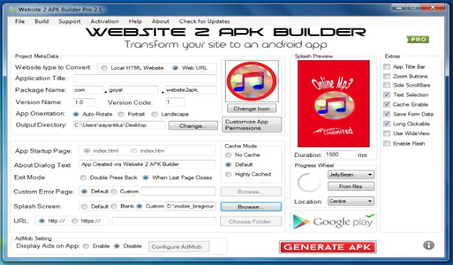 Website 2 APK Builder Pro version 2 1 Free Download - Sayan PC