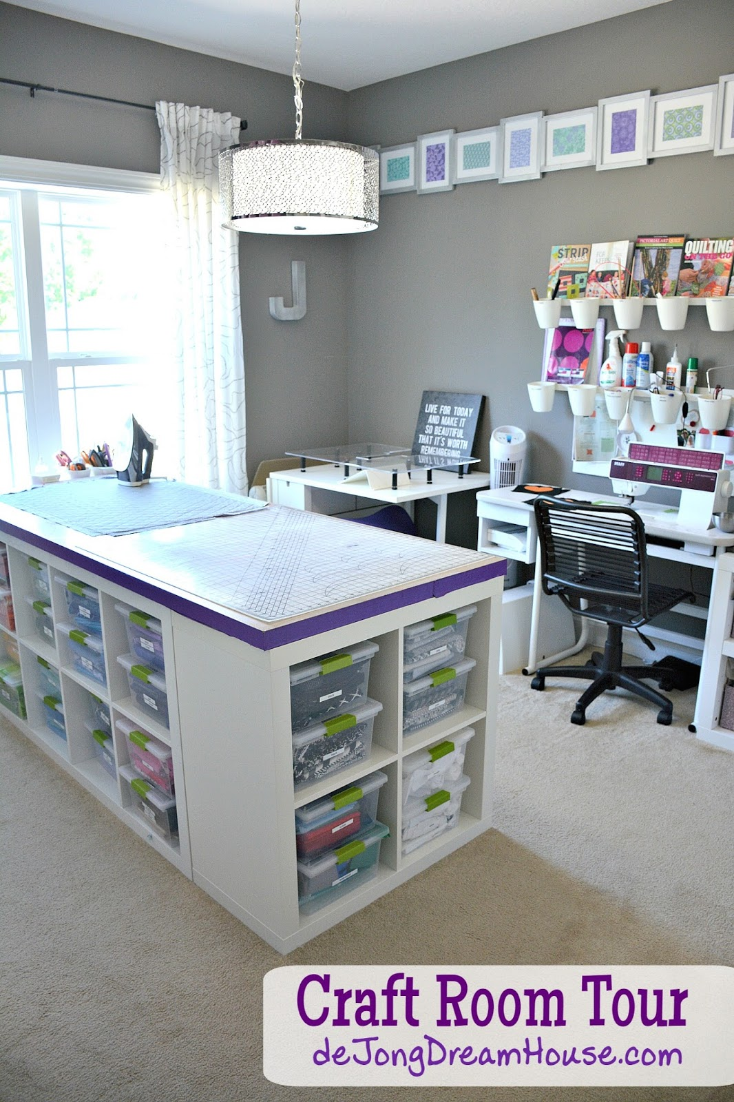 De jong dream house my new improved craft room for House plans with craft room