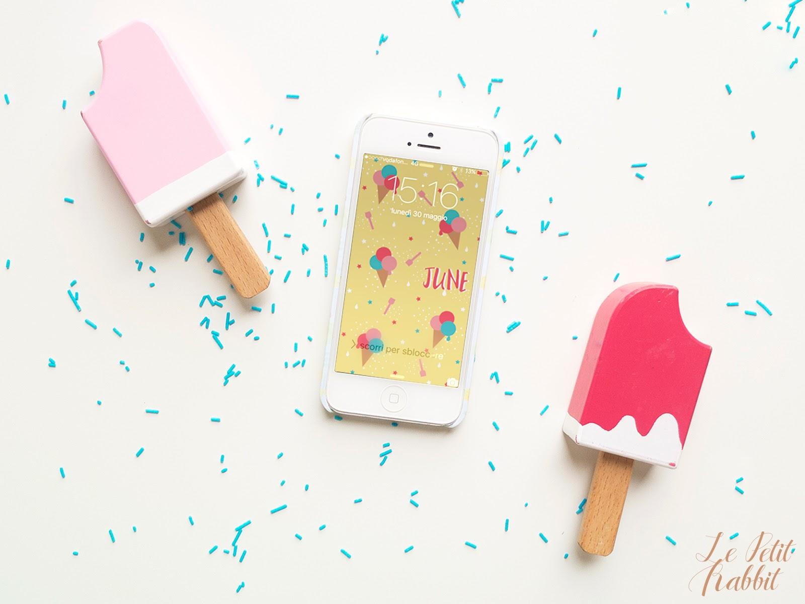 Sfondo Gratuito Smartphone Giugno 2016 Le Petit Rabbit