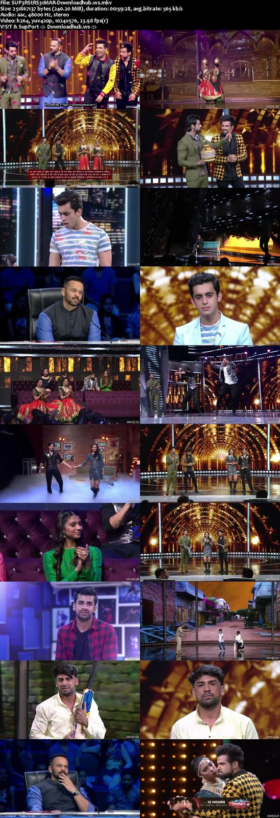 India's Next Superstars 31 March 2018 Semi Finals Episode HDTV 480p