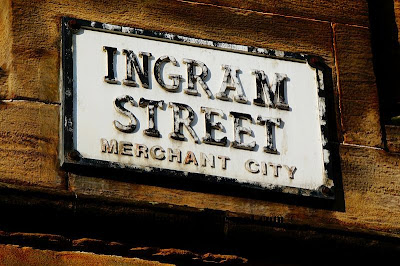 Ingram Street Sign, Merchant City, Glasgow, Scotland, UK