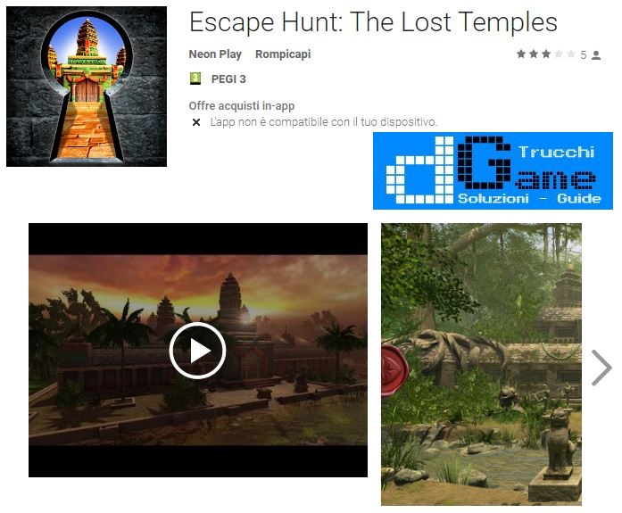 Soluzioni Escape Hunt: The Lost Temples