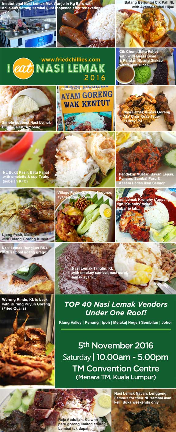 'I EAT NASI LEMAK' Returns This Year With 40 Vendor By FRIEDCHILLIES