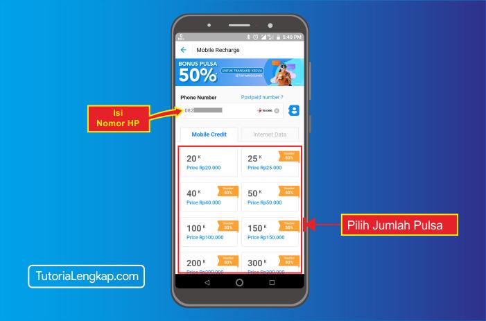 tutorialengkap 3 cara beli pulsa online melalui akun dana di hape android