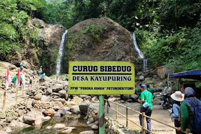 Curug Sibedug masuk wilayah Desa Kayupuring