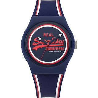 Superdry Ladies Urban Navy Silicone Strap Watch SYG198UR