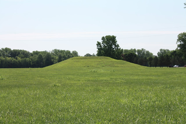 One of  nearly 100 mounds at Cahokia. Cahokia is one of the most extensive native sites discovered.
