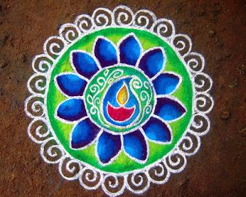 rangoli image with dots