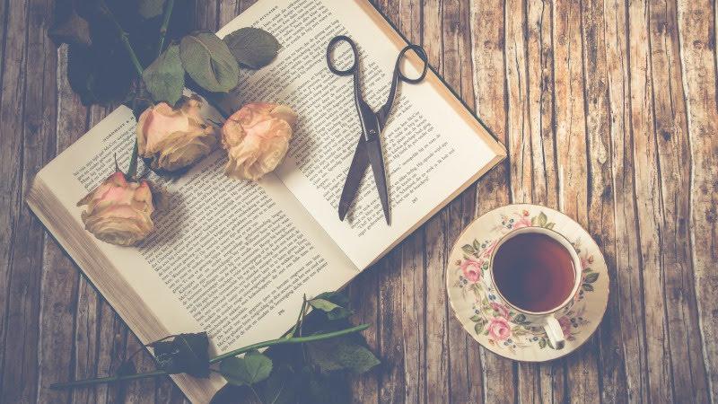 Tea, roses and a good book HD