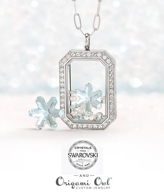 Limited Edition Swarovski Snowflake Crystal Figurine and Locket available at StoriedCharms.com