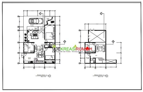 gambar denah rumah pojok 2
