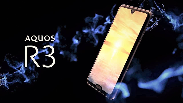 mobile scream has been launched alongside dual Sharp Aquos R3 launched alongside dual-notch pattern