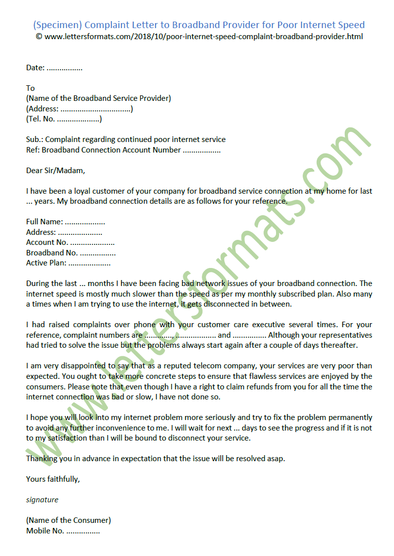 letter for disconnection of mobile number