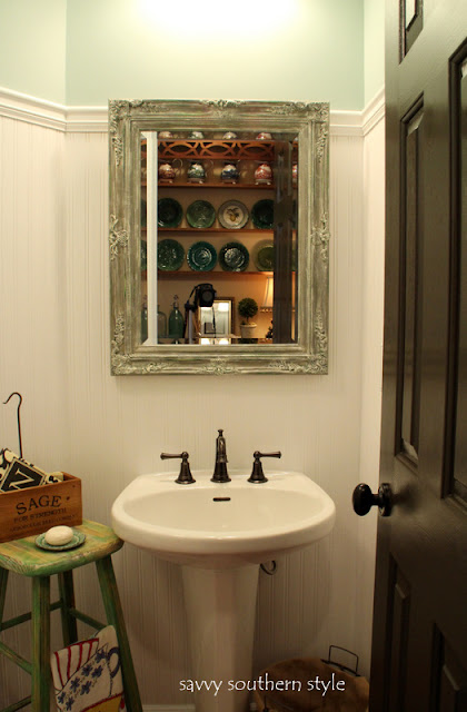 Savvy Southern Style The Powder Room