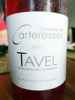 Domaine des Carteresses Tavel Rosé 2017 (88 pts)