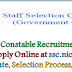 SSC Constable Recruitment 2017  -  Apply Online Constable Posts @ www.ssconline.nic.in