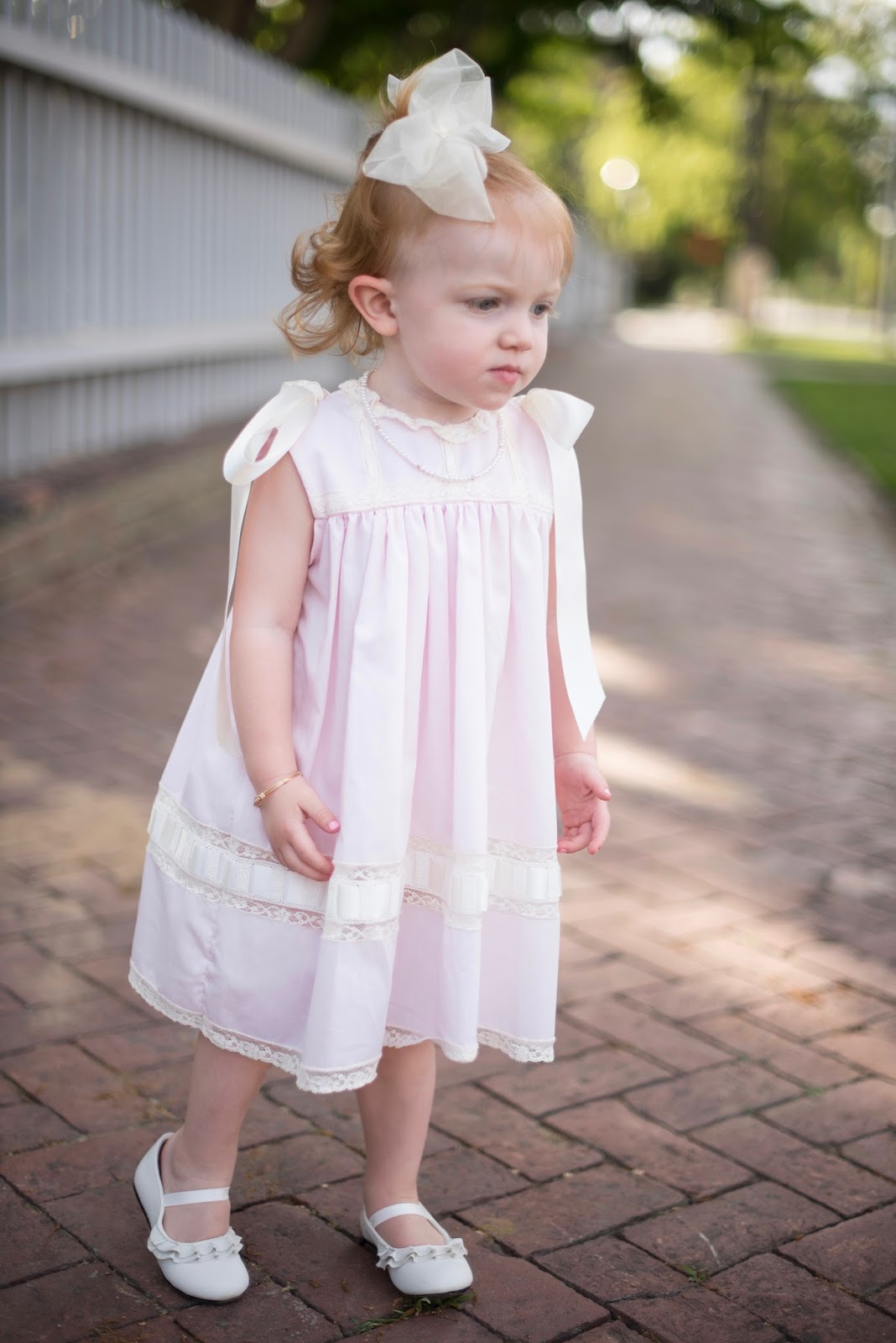 Peppermint Pony Lace Bow Dress - Click through to see more on Something Delightful Blog.