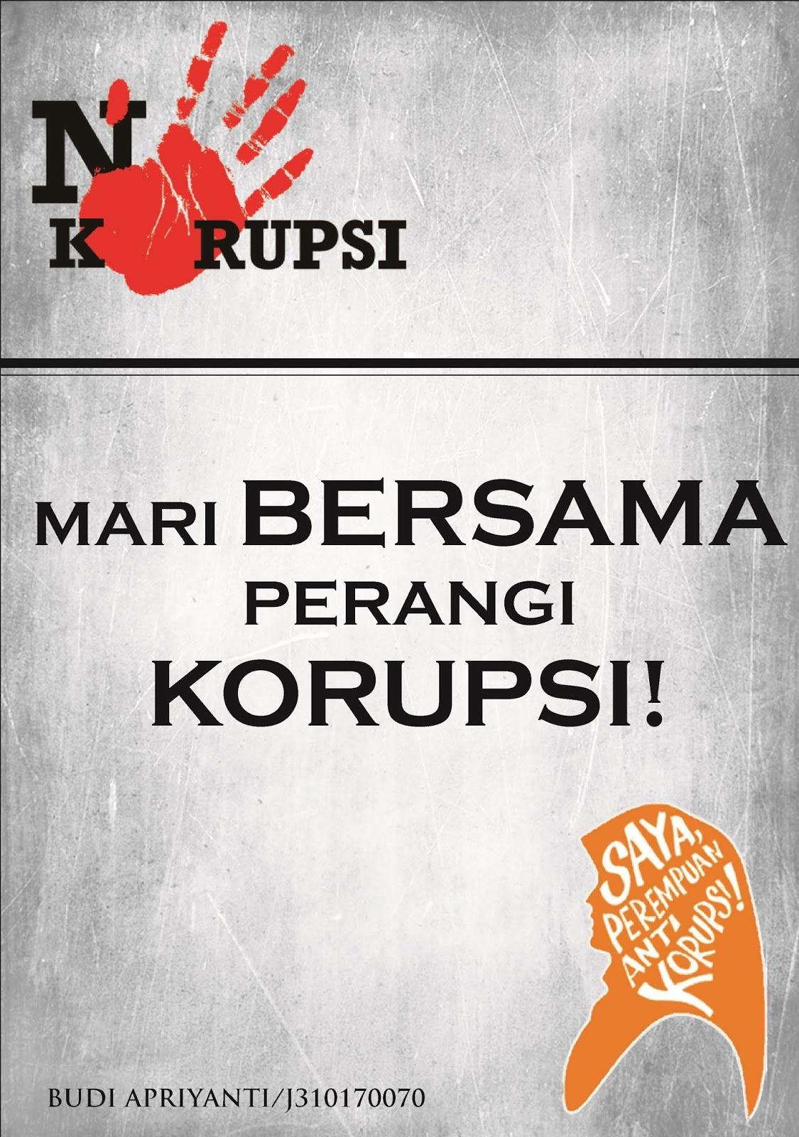 Wonderfulmom Poster Kampanye Anti Korupsi