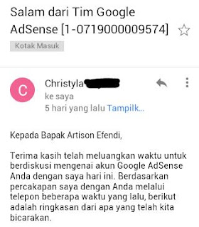 pertama mengenal google Adsense