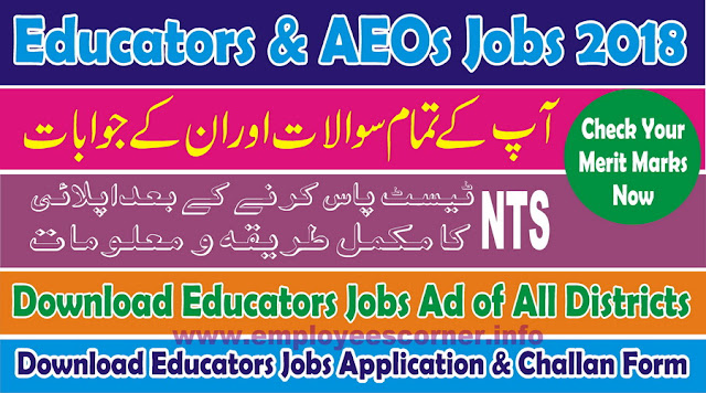 How To apply on Educators Jobs 2018