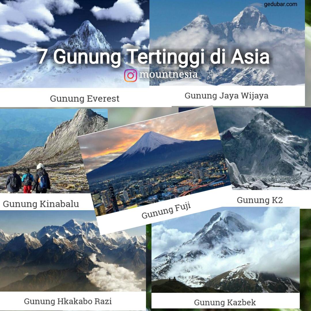 7 Gunung Tertinggi Di Asia Everest Salah Satunya Viapendaki