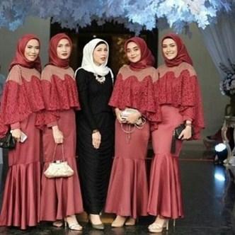 Terbaru Koleksi Kebaya Muslim Model Cape Menutup Dada Untuk Para