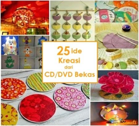25 Ide Kreasi dari CD/DVD Bekas