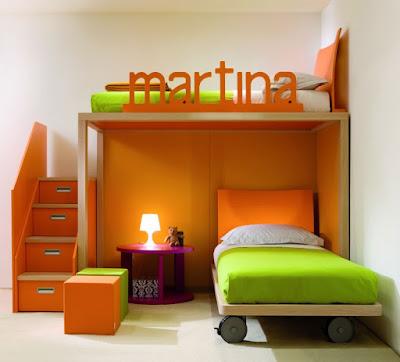 bedroom-ideas-for-kids-bedroom-childrens-bedroom-design-with-modern-orange-and-green-bunk-bed-32-cute-and-charming-childrens-bedroom-design-ideas