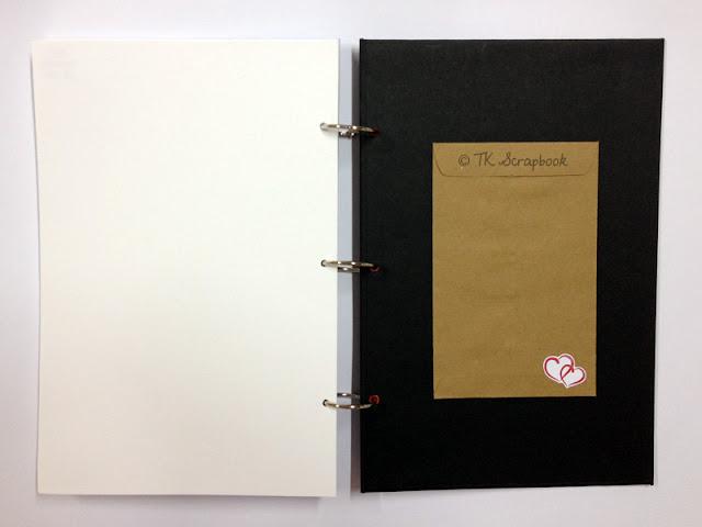album de fotos scrapbook com tema romantico