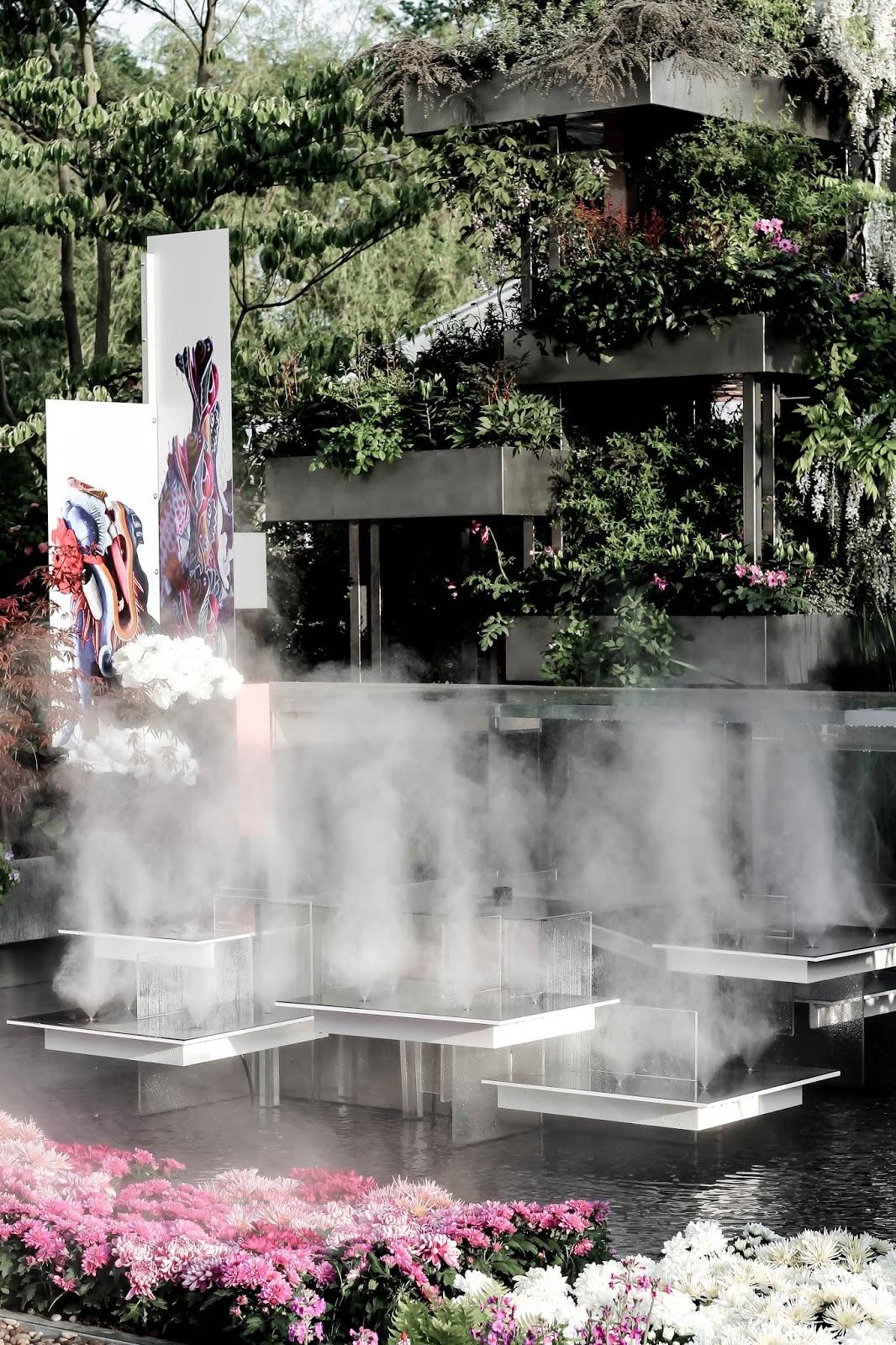 Water Display Steam Chelsea Flower Show 2018