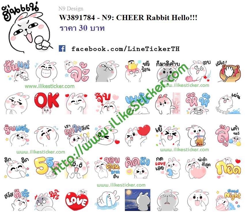 N9: CHEER Rabbit Hello!!!