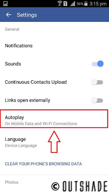 Navigation to Autoplay option