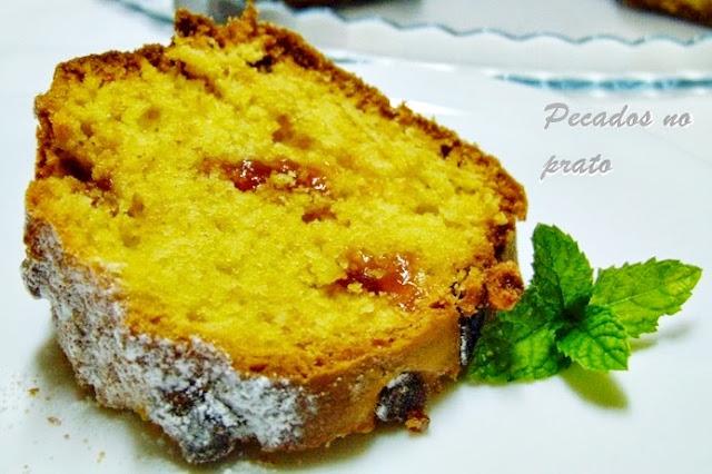 Receita de bolo de marmelada, o perfeito contraste de sabores